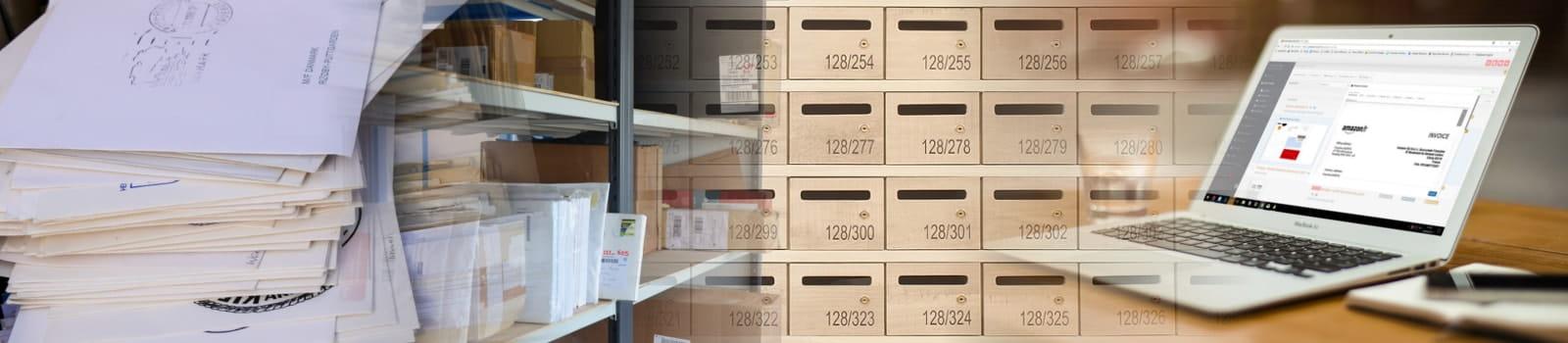 Un bureau virtuel avec réception de courrier